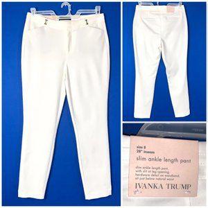 NWT🤩 •IVANKA TRUMP•  Slim Ankle Length Pant Sz. 8